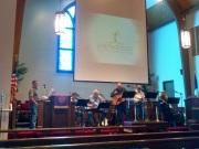 Bluegrass service at Springville FUMC