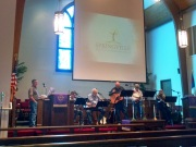 Bluegrass service at Springville FUMC