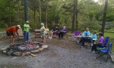 Campfire to welcome Carol and Dave