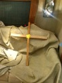 Cross on couch