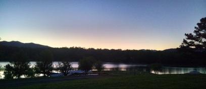 Morning at the Lake House