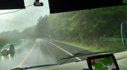 Rainy drive on the Ocoee Hwy