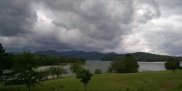 Stormy weather over the lake