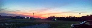Sunrise at the fairground
