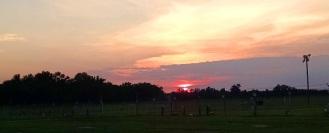 Last sunset at Lumberton