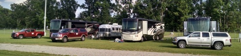 Now we are three Tiffin motorhomes and one Airstream