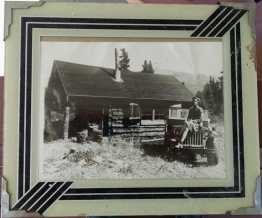 Sanctuary Cabin at 26 Mile McKinley Park 1944 Me on jeep
