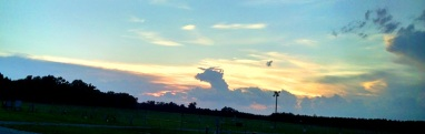 Tonight's sunset had a dragon in it