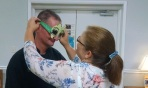 CEO Jackie presented Chef Phillip with his own customized solar glasses