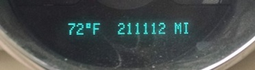 Odometer reading at some point during the trip today