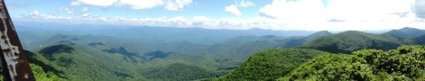Panaoramic view from the fire tower