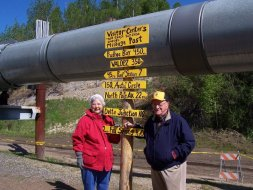 Ralph and Momma Ruby during a Merry Methodists trip to Alaska in 2006