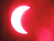 The eclipse through the solar telescope