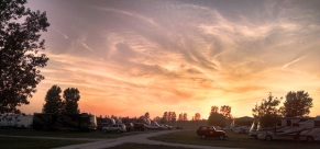 Another beautiful sunset over the RV park
