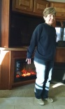 It was cool enough to use the fireplace this morning.