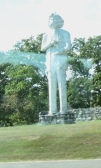 Mark Twain statue in Hannibal, MO