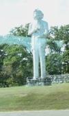 Mark Twain statue in Hannibal, MO
