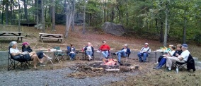 Our evening by the bonfire