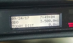 We saw this on our odometer when we started out this morning.