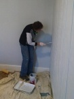 Evelyn painting one of the girls rooms