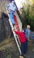 Finishing the siding on the back