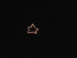 What the star looks like from Hwy 75 in Remlap