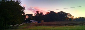 Sunrise over the barn