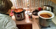 Cooking Soup and Chili for Christmas