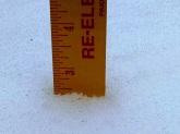 Still snow on the deck