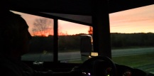 God blessed us with a beautiful sunset as we were driving