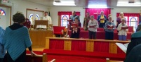 Morning worship at Osteen UMC