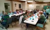 Fellowship dinner provided by the church
