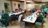 Fellowship dinner provided by the church