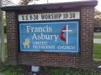 Francis Asbury UMC sign