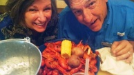 Rita and Mark shared a plate of bugs today
