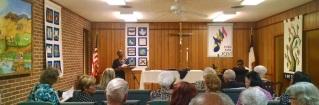 Worship service at FAUMC