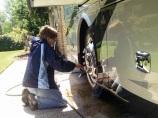 Polishing the wheels