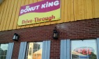 Donut King sign