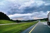 Interesting clouds on the drive back