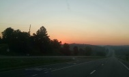 Sunrise on the road again