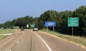 Entering Mississippi
