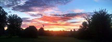 Another beautiful sunrise during our morning walk