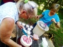 Birthday Cake and Homemade Ice Cream
