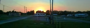 Sunset at the fairgrounds