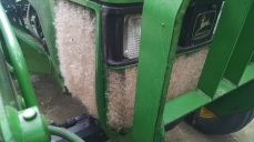 Had to stop a few times and blow the sage grass seed off the tractor grill
