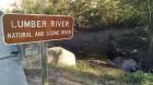 Lumber River sign