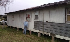 checking siding and windows