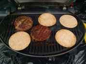 Grilling lunch