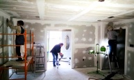 More drywall finishing at Norwich Dr