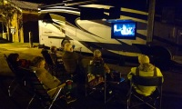 Movie night in the parking lot